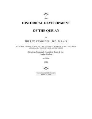 The Historical Development Of The Qur'an