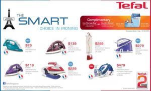 The Smart Choice In Ironing Available At Tefal Offer Valid Till October 31 201572410 72410