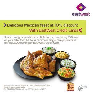 Delicious Mexican Feast At 10 Discount With Eastwest Credit Cards Till February 15 201672440 72440