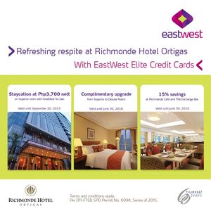 Refreshing Respiteat Richmonde Hotel Ortigas With Eastwest Cards Till June 30 2016 72442