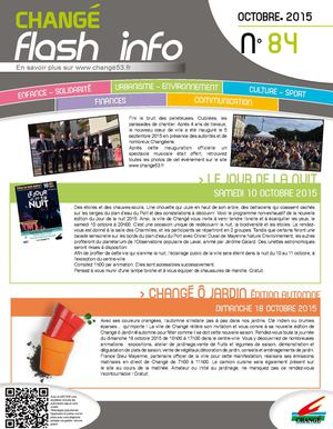 Flash info octobre 2015