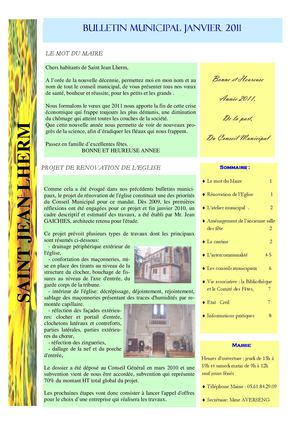 BULLETIN MUNIICIPAL 2011