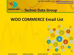 Woo Commerce Users Email List