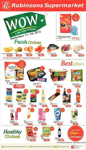 Wow Low Low Prices At Robinsons Supermarket Offers Valid From September 11 24 201572455 72455