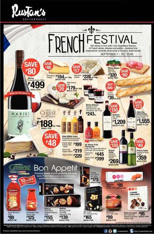 French Festival At Rustans Supermarket Offers Valid From September 1 30 201572467 72467