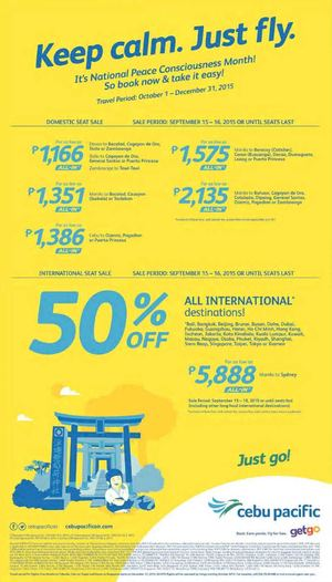 Keep Calm Just Fly With Cebu Pacific Book On September 15 16 2015 72480