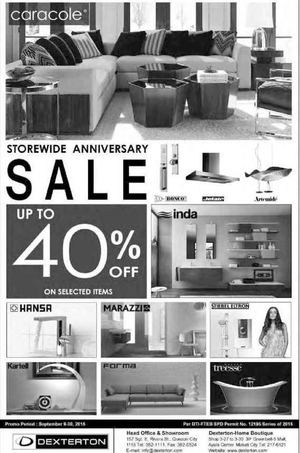 Storewide Anniversary Sale Up To 40 Off A Dexterton Till September 30 201572485 72485
