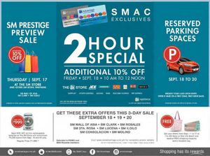Get These Extra Offers This 3 Day Sale Exclusive For Sm Advantage From September 18 20 201572489 72489