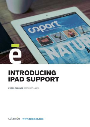 Introducing Ipad Support - Press Release - Calaméo