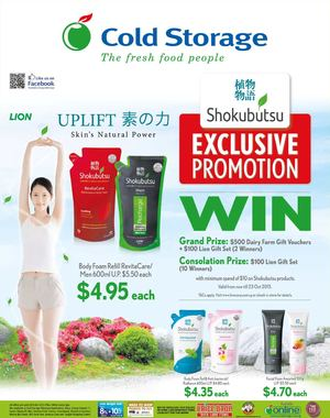Shokubutsu Exclusive Promotion At Cold Storage Valid Till October 8 201572856 72856