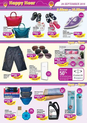Happy Hour At Aeon Mid Valley Offer Valid On September 29 2015 72881