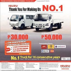 N Series Power Negosyo Plus By Isuzu Offer Extended Till September 30 2015 72960