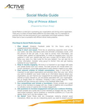 City Of Prince Albert Social Media Guide