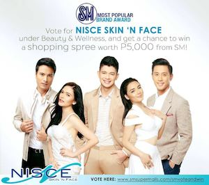 Vote For Nisce Skin N Face And Get A Chance To Win A Shopping Spree Promo Ends On October 12 201573007 73007