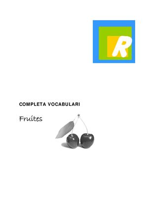 Completa Vocabulari Fruites