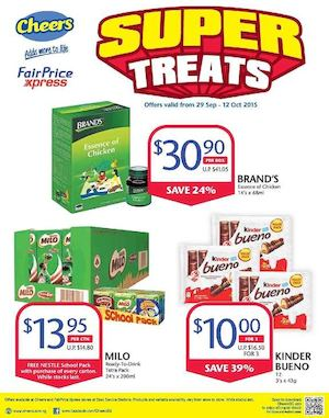 Super Treats At Cheers Fairprice Xpress Offers Valid From September 29 To October 12 201573026 73026