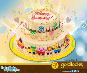 Duo Carnival Cake Topped With Colorful Decors For Only P520 At Goldilocks While Stocks Last 73034