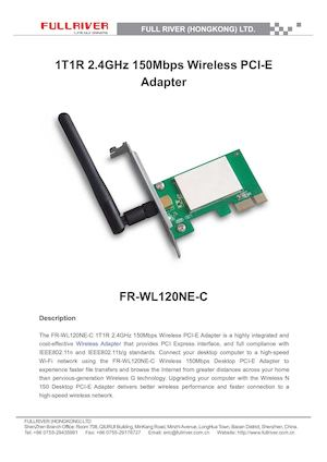 Pci E Wireless Adapter(fr Wl120ne C)