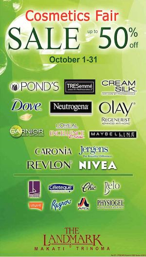 Cosmetics Fair Up To 50 Off At The Landmark From October 1 31 2015 73302