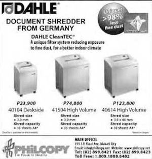 Document Shredder From Germany Available At Philcopy Offer Valid While Stocks Last73323 73323