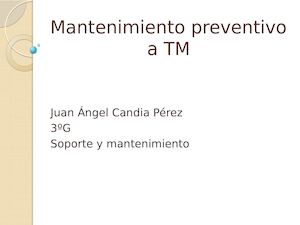 Mantenimiento Preventivo A Tm