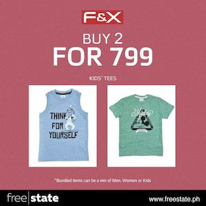 Buy 2 Kids Tees For 799 At Fx Offer Valid While Stocks Last 73535
