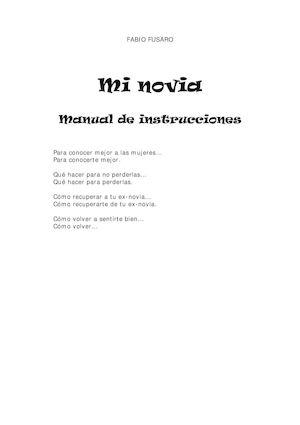 Fusaro Fabio Mi Novia Manual De Instrucciones