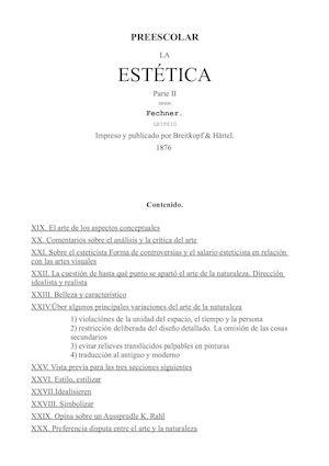 Calaméo - Preescolar La Estética 02 Castellano Gustav Theodor Fechner