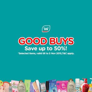 Good Buys Up To 50 Off On Selected Items At Watsons Till November 5 201573941 73941
