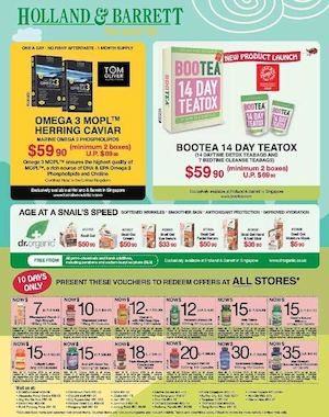 Present These Voucher To Redeem Offers At Holland Barrett Valid Till October 31 201573994 73994