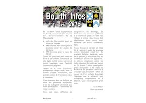 Bourth Infos N°3 - Avril 2015