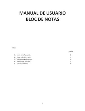 Manual De Usuario - Bloc De Notas