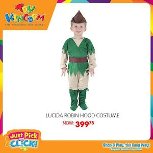 Lucida Robin Hood Costume For P399 75 Available At Toy Kingdom While Stocks Last 74058