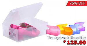 Enjoy 75 Off On Transparent Shoe Box At Dealspot Till December 31 201574212 74212