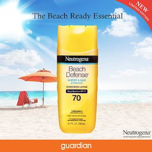 Limited Edition Beach Defense Sunscreen Lotion Available At Guardian While Stocks Last74216 74216