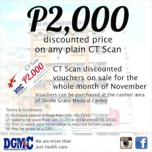 Get P2000 Discount Price On Any Plain Ct Scan At Divine Grace Medical Center Till November 30 201574335 74335