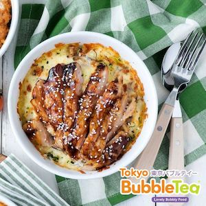 Chicken Teriyaki On A Bed Of Mushroom And Mozzarella Cheese At Tokyo Bubble Tea While Stocks Last 74347