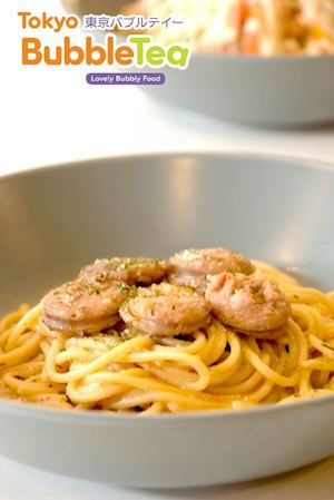 Sausage In Roasted Tomato Garlic Pasta Available At Tokyo Bubble Tea While Stocks Last 74349