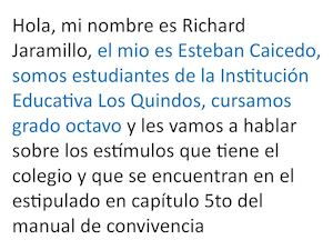 Richard y Esteban