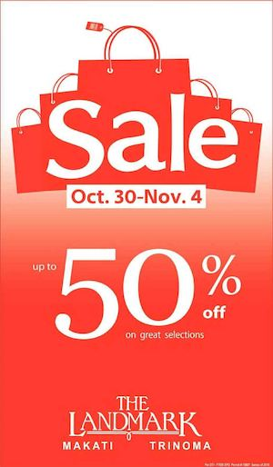 Sale Up To 50 Off At The Landmark From October 30 To November 4 201574369 74369