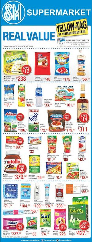 Enjoy Real Value At Sm Supermarket Offers Valid From October 30 To November 12 201574372 74372