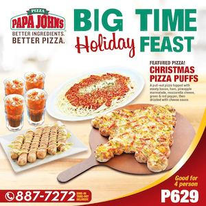 Enjoy Our New Christmas Pizza Puff At Papa Johns Pizza While Stocks Last74379 74379