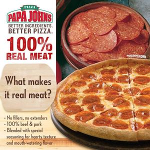 Bite Into Real Meat Pizza Goodness At Papa Johns Pizza While Stocks Last74384 74384