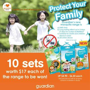 10 Sets Of Guardians Mosquito Repellent To Be Won At Guardian Pharmacy Till November 9 2015 74385