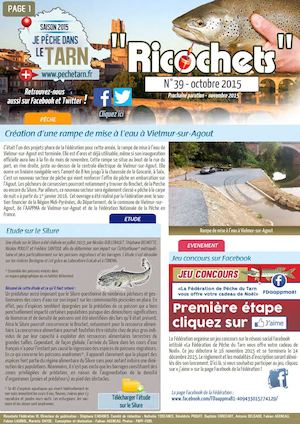 NEWSLETTER N°39 / OCTOBRE 2015