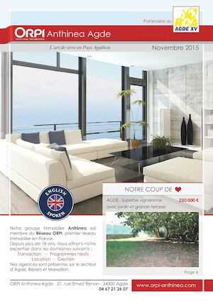 Novembre 2015 Catalogue Agde