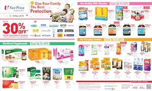 Health Food Promotion At Fairprice Offers Valid From November 5 18 201574391 74391