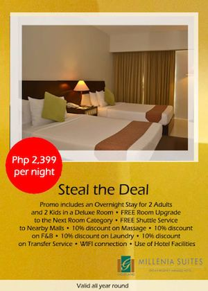 Steal The Deal For Only Php2399 Per Night At Millenia Suites Valid All Year Round 74712