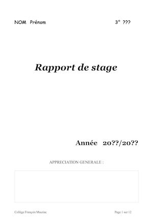 Rapport Stage Modele