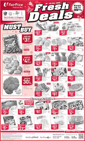 Fresh Deals At Fairprice Offers Valid From November 19 25 201574997 74997